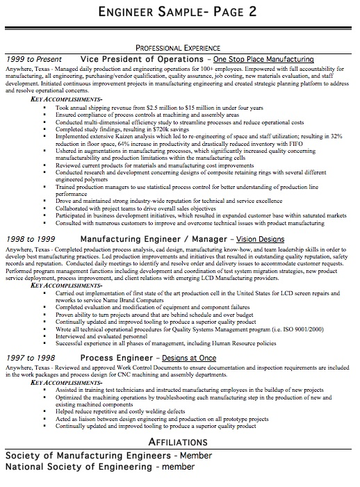 professional engineering resume ~ Gopitch.co