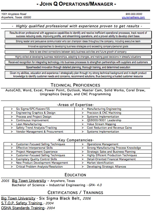 Engineer Resume Sample  Professional Engineer Resume